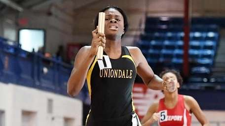 Zaria Fuller of Uniondale anchors her team to