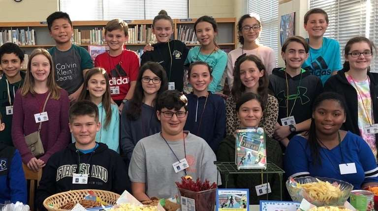 Students in East Islip Middle School's Master Readers