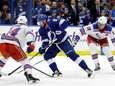 Lightning center Steven Stamkos gets between Rangers defenseman