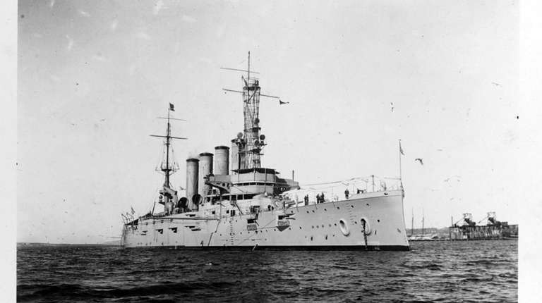 The USS San Diego, which sank near Fire