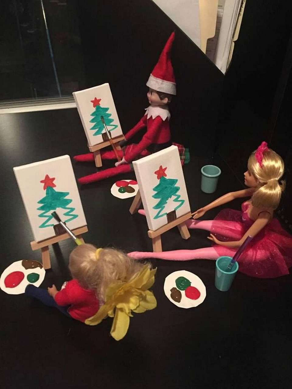 Elf on the shelf paint night