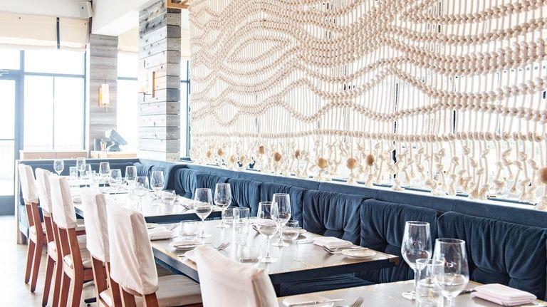 The main dining room at Scarpetta Beach.
