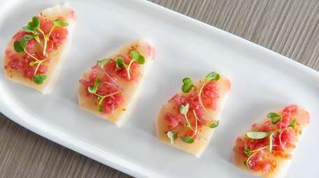 Yellowtail crudo as served at Scarpetta Beach.