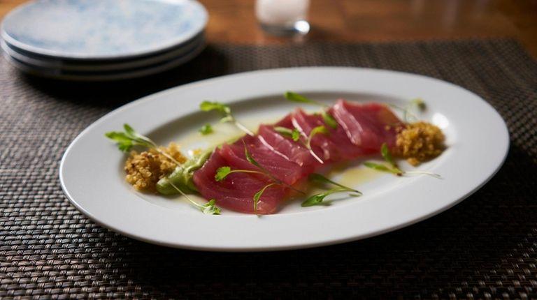Yellowfin tuna crudo as served at 1221 at