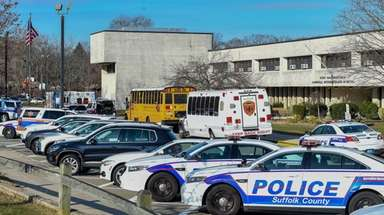 Police responded to Sawmill Intermediate School in Commack