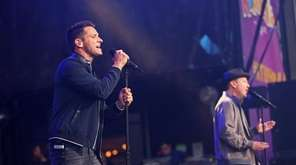 98 Degrees perform at the Northwell Health at