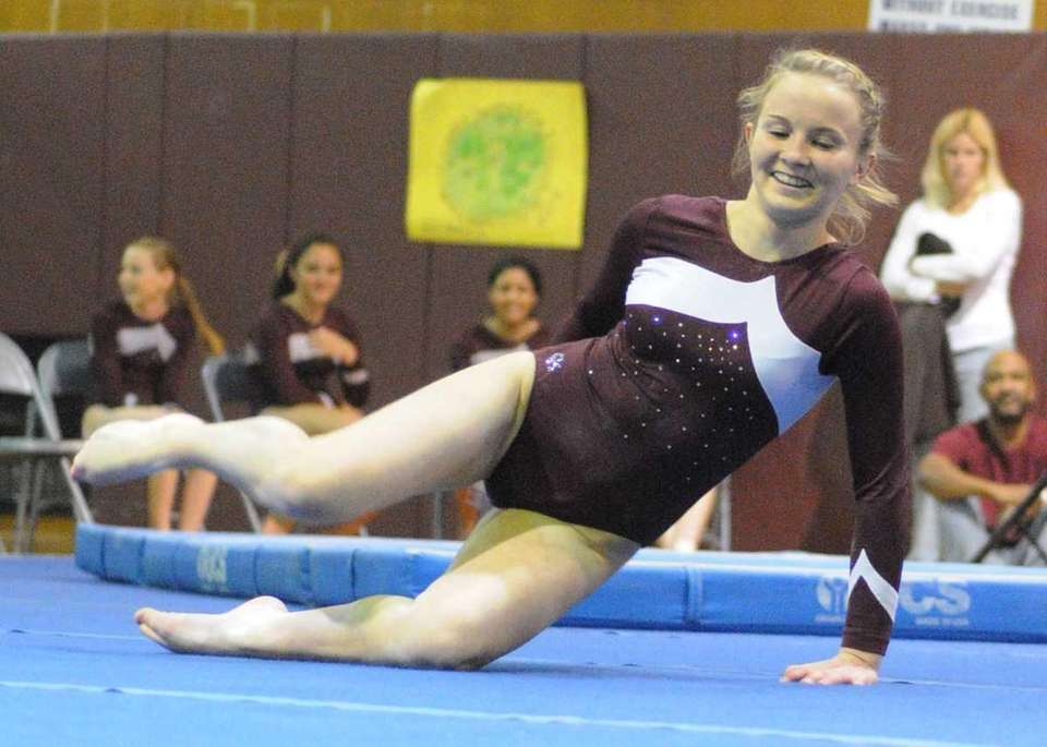 Olivia O'Connor of Bay Shore performs her floor