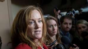 Rep. Kathleen Rice, D-N.Y., talks to reporters about