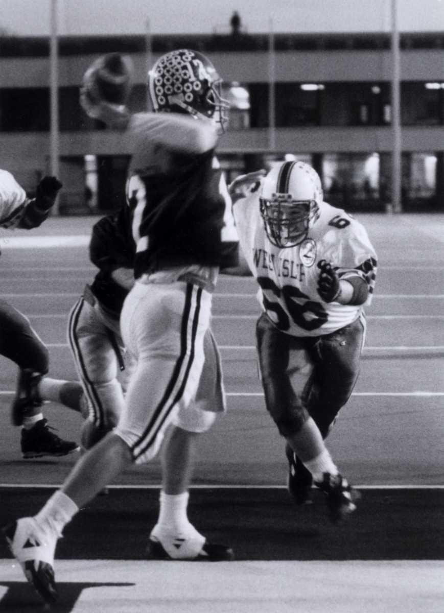 Tim Glisker scored both touchdowns for the Nassau