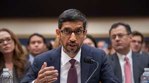 Google CEO Sundar Pichai appears before the House
