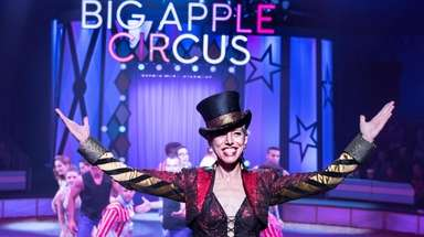 Ringmaster Stephanie Monseu of the Big Apple Circus,