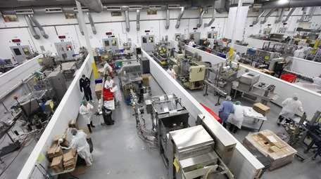 Production lines at PL Developments in Westbury represent