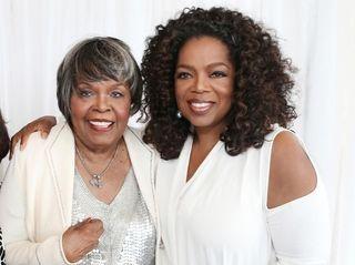 Oprah Winfrey, right, with her mother Vernita Lee,