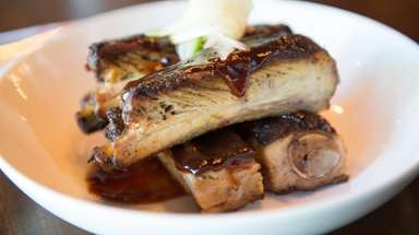 The St. Louis ribs at Hush Bistro in