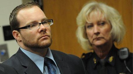 Joseph DeFelice inside a Riverhead courtroom on Nov.