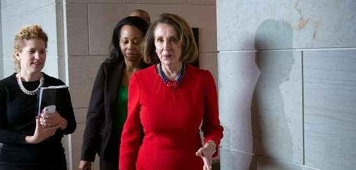 House Democratic leader Nancy Pelosi is seen Wednesday