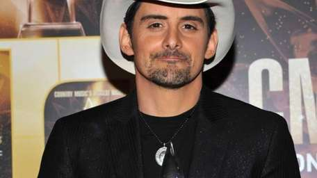 Brad Paisley poses in the press room during