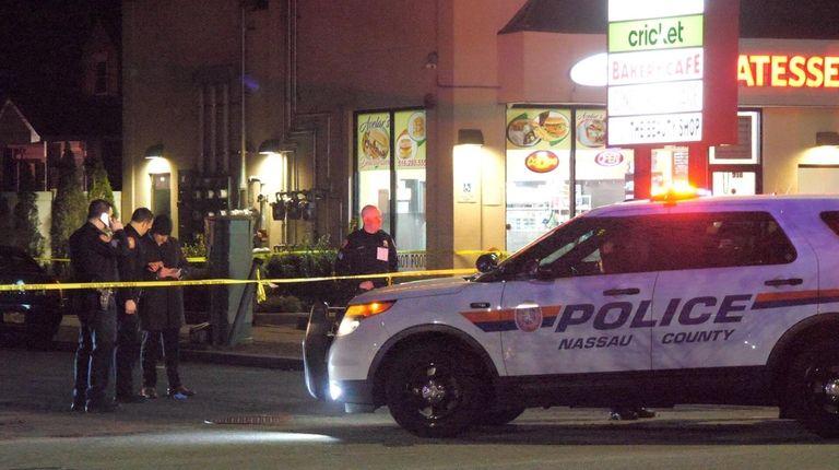 Nassau police respond to a report of shots
