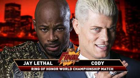Jay Lethal, left, will face Cody Rhodes in