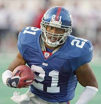 10. TIKI BARBER, Running back, 1997-06The diminutive running