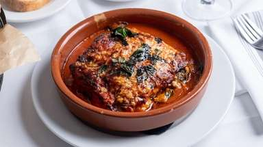 Lasagna rustica filled with chestnuts, veal ragu and