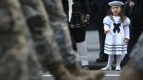 Gianna Piccolo, 3, whose father is a Navy