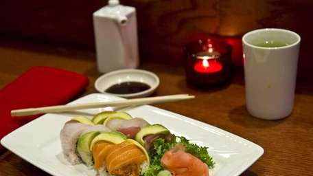 One of the special rolls offered at Yuzu