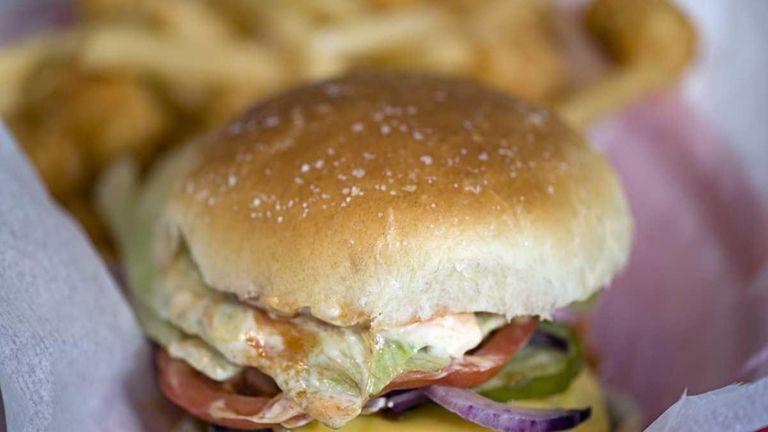 Bay Burger, in Sag Harbor, serves its burgers