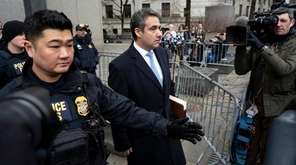 Michael Cohen, President Donald Trump's former lawyer, leaves