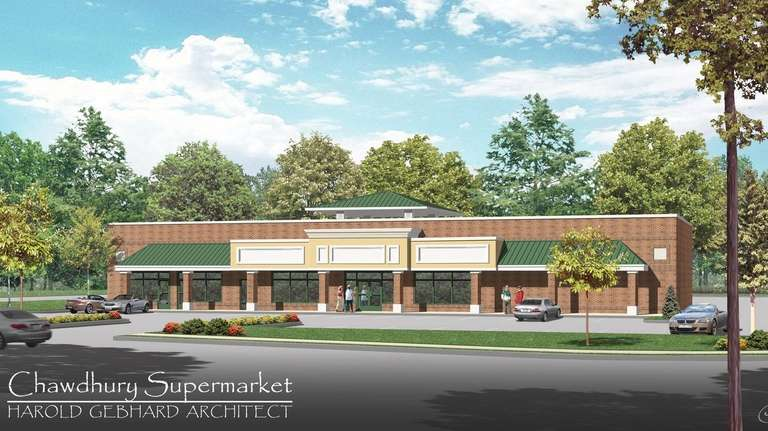 A rendering of the proposed grocery store at