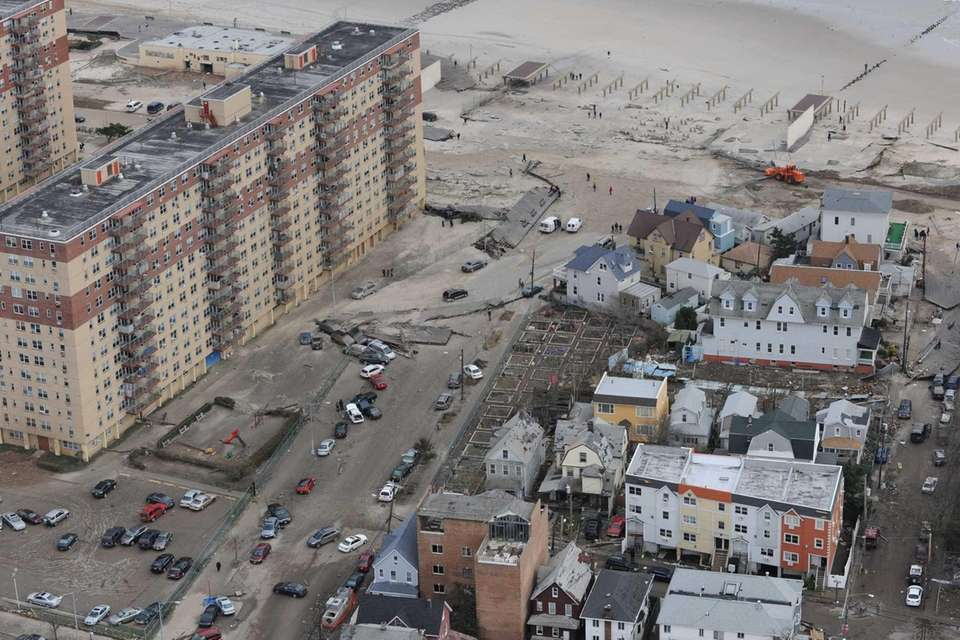 A look, from the air, at the superstorm