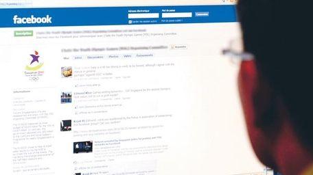 A user navigates Facebook.