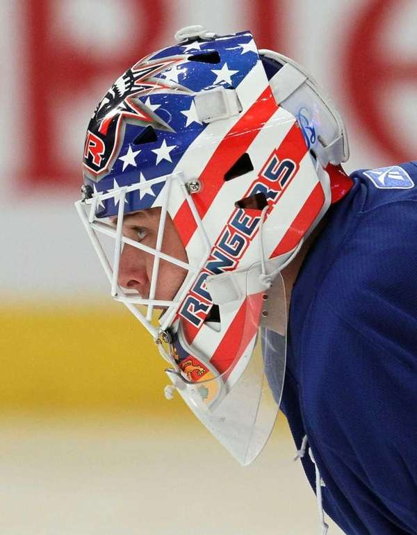 Martin Biron #43 of the New York Rangers