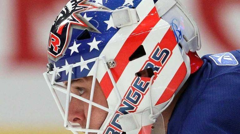 Martin Biron #43 of the New York Rangers
