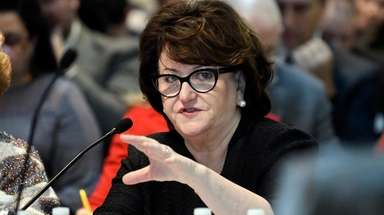 State Education Commissioner MaryEllen Elia speaks to members
