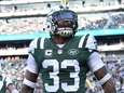 New York Jets strong safety Jamal Adams reacts