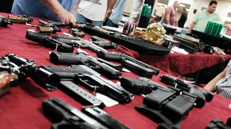 A display at a gun show in Naples,