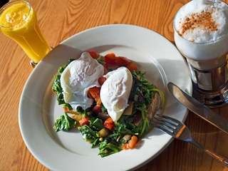 One of the breakfast special at Estias Little