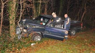 State troopers investigate a single-vehicle fatal crash in
