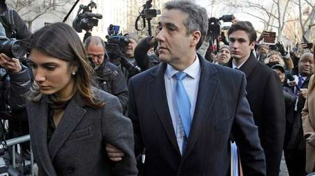 Michael Cohen arrives at federal courthouse in Manhattan