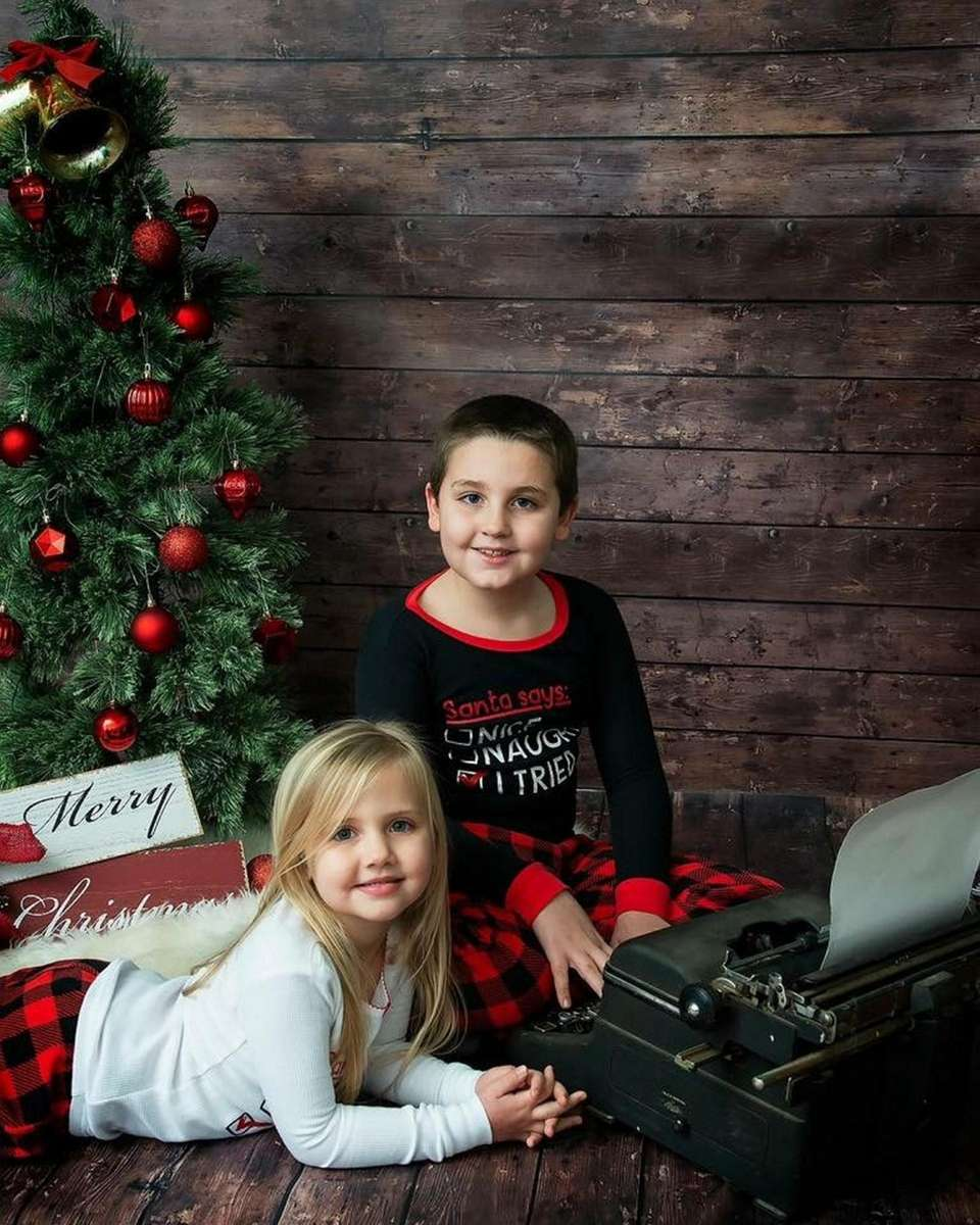 Chase and Charlotte Beck holiday photo