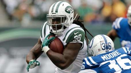 Isaiah Crowell of the Jets runs the ball