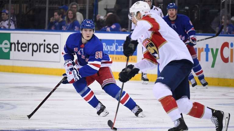 Rangers center Lias Andersson was a healthy scratch