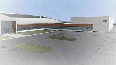 A rendering of the center to be built
