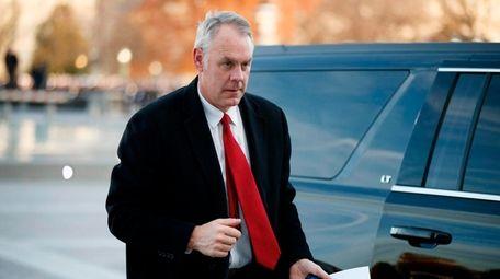 Secretary of the Interior Ryan Zinke arrives in