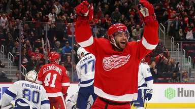 Frans Nielsen #51 of the Detroit Red Wings