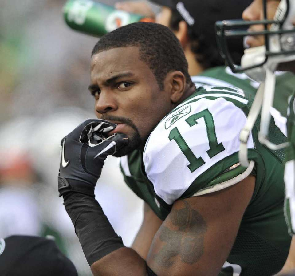 Braylon Edwards bites his nails during a recent