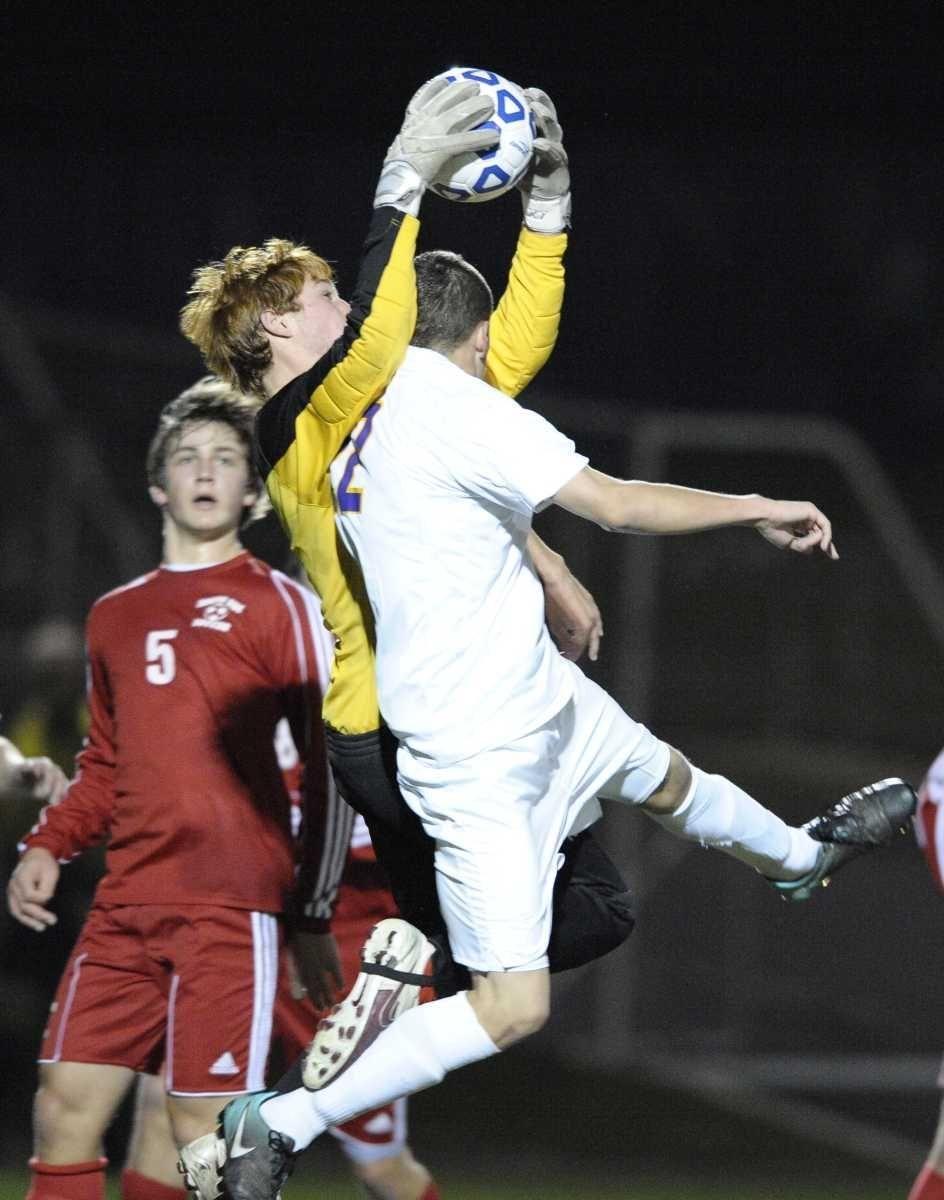 South Side goal keeper Devev Khosla saves a