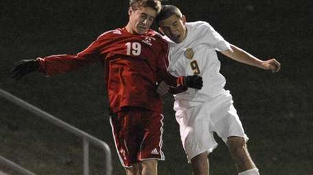 Sayville's Jon Paciorek, right, and a South Side