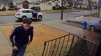 A surveillance image of one of two suspects